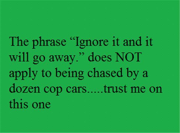 ignore it
